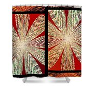 Abstract Fusion 171 Shower Curtain