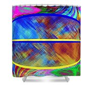 Abstract Fusion 173 Shower Curtain