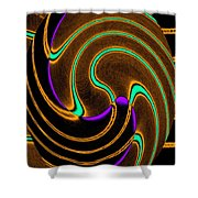Abstract Fusion 174 Shower Curtain