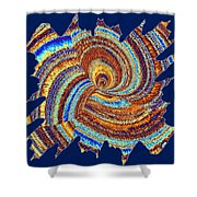 Abstract Fusion 176 Shower Curtain