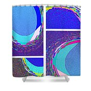 Abstract Fusion 178 Shower Curtain