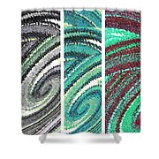 Abstract Fusion 180 Shower Curtain
