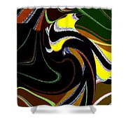 Abstract Fusion 183 Shower Curtain