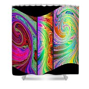 Abstract Fusion 184 Shower Curtain