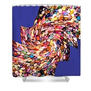 Abstract Fusion 189 Shower Curtain