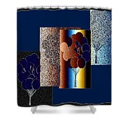 Abstract Fusion 191 Shower Curtain