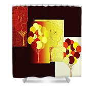 Abstract Fusion 192 Shower Curtain