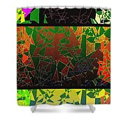 Abstract Fusion 193 Shower Curtain