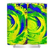 Abstract Fusion 195 Shower Curtain