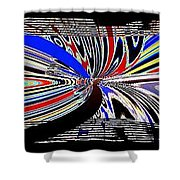 Abstract Fusion 197 Shower Curtain