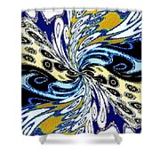 Abstract Fusion 198 Shower Curtain