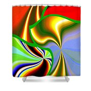 Abstract Fusion 200 Shower Curtain