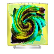 Abstract Fusion 201 Shower Curtain