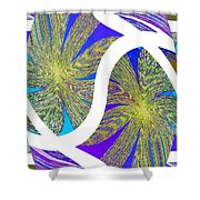 Abstract Fusion 203 Shower Curtain
