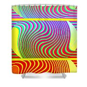 Abstract Fusion 205 Shower Curtain
