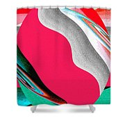 Abstract Fusion 208 Shower Curtain