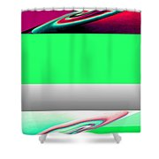 Abstract Fusion 209 Shower Curtain