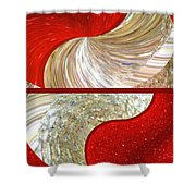 Abstract Fusion 218 Shower Curtain