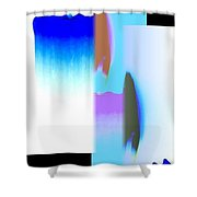 Abstract Fusion 220 Shower Curtain