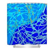 Abstract Fusion 224 Shower Curtain