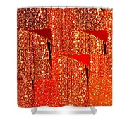 Abstract Fusion 228 Shower Curtain