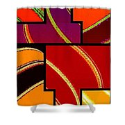 Abstract Fusion 232 Shower Curtain