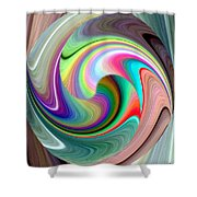 Abstract Fusion 241 Shower Curtain