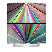 Abstract Fusion 242 Shower Curtain
