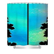 Abstract Fusion 243 Shower Curtain