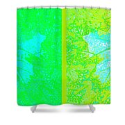 Abstract Fusion 249 Shower Curtain