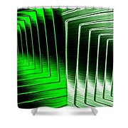 Abstract Fusion 253 Shower Curtain