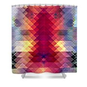 Abstract Geometric Spectrum Shower Curtain