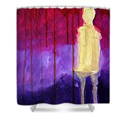 Abstract Ghost Figure No. 3 Shower Curtain
