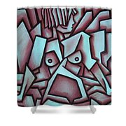 Abstract Girl  Shower Curtain