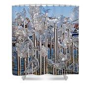 Abstract Glass Art Sculpture Shower Curtain