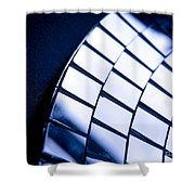 Abstract Glass Shower Curtain