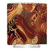 Abstract Gold 3 Shower Curtain