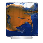 Abstract Gold Fish Shower Curtain