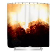Abstract Golden Landscape Shower Curtain