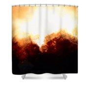 Abstract Golden Landscape Shower Curtain