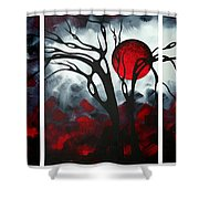 Abstract Gothic Art Original Landscape Painting Imagine By Madart Shower Curtain