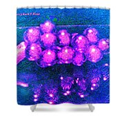 Abstract Grapes Shower Curtain