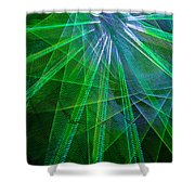 Abstract Green Lights Shower Curtain
