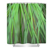 Abstract Green Pine Shower Curtain