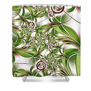 Abstract Green Plant Shower Curtain