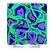 Abstract Green Purple Blue Shower Curtain
