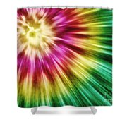 Abstract Green Tie Dye Shower Curtain