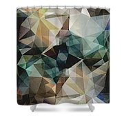 Abstract Grunge Triangles Shower Curtain