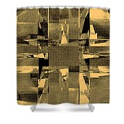 Abstract Halftone  Shower Curtain