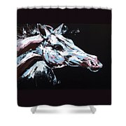 Abstract Horse Shower Curtain
